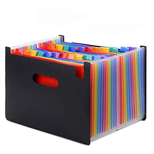 ドキュメントスタンド A4 25ポケット ファイル ボックス 書類ケース 収納ボックス 整理 自立型