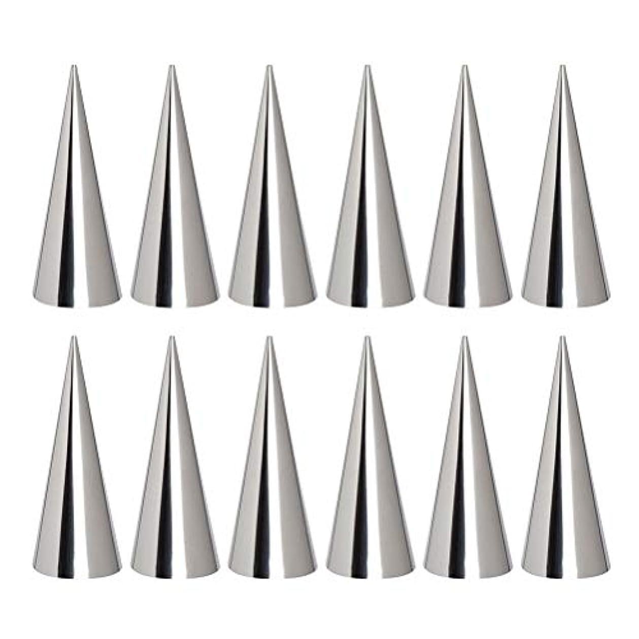 発行シンプルさ不運BESTONZON 12ピースクロワッサン金型クリームホーン金型コーンホーン金型キッチンベーキングコイルツールステンレス鋼