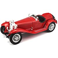 Bburago 2011 Gold 1:18 Scale Silver Alfa Romeo 8C 2300 Spider Touring (1932)