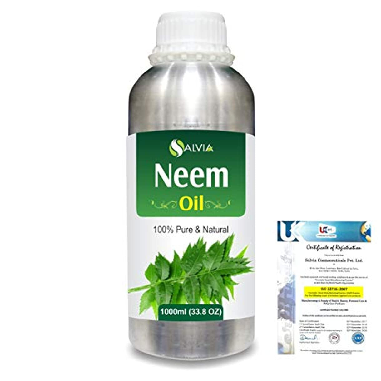 反射避ける穿孔するNeem (Azadirachta indica) 100% Natural Pure Essential Oil 1000ml/33.8fl.oz.