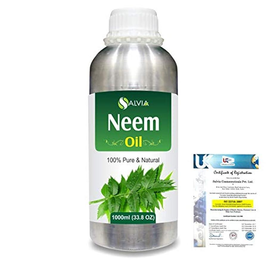 尽きるスロープ解明Neem (Azadirachta indica) 100% Natural Pure Essential Oil 1000ml/33.8fl.oz.