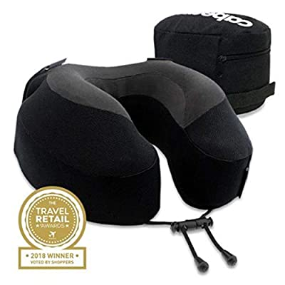Cabeau Evolution(R), S3 Memory Foam Neck Travel Pillow Jet Black