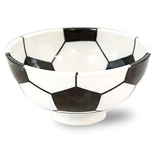 みのる陶器 サッカー 軽量茶碗 中 33-710332