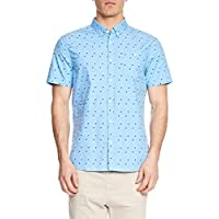 Mossimo Men's Knox Short Sleeve Shirt, Blue