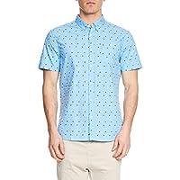 Mossimo Men's Knox Short Sleeve Shirt, Blue