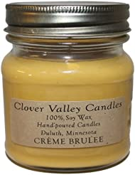Creme Brulee Half Pint Scented Candle byクローバーValleyキャンドル