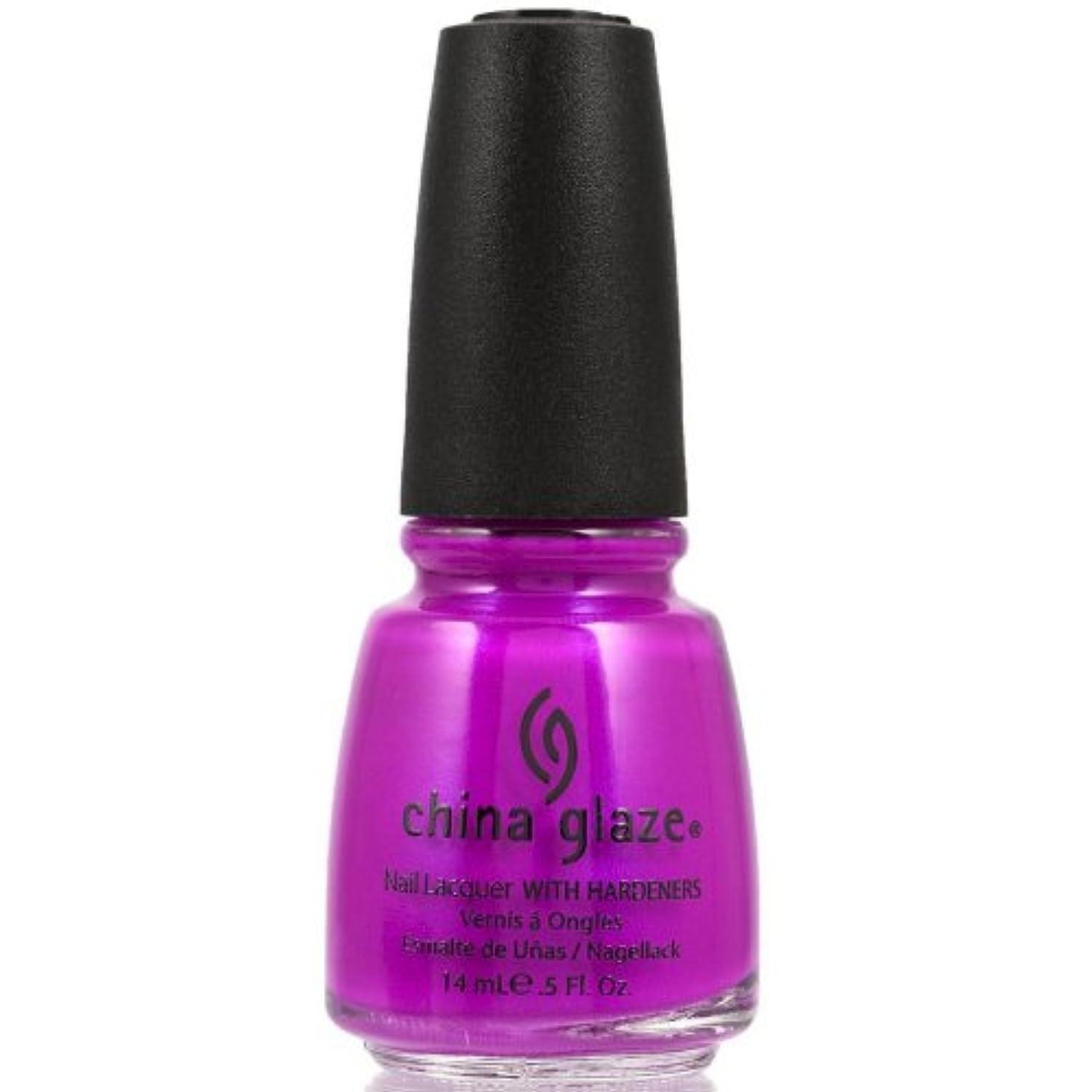 多様性弾性決定的China Glaze Nail Lacquer 1008 Purple Panic 70290 (並行輸入品)