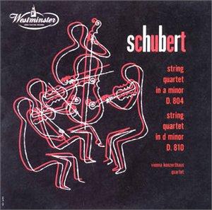 シューベルト : 弦楽四重奏曲 第13番「ロザムンデ」/第14番「死と乙女」