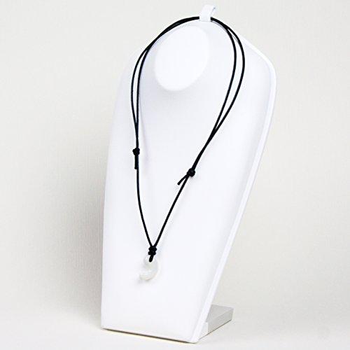 古代勾玉(まがたま)ペンダント ホワイトオパール [蛋白石 Opal]※巾着袋付き