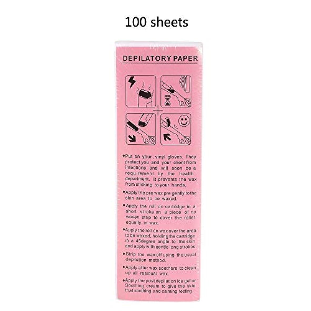 挽くボックス抗生物質100ピース脱毛ワックスストリップワックスペーパー脱毛美容ツール-Innovationo