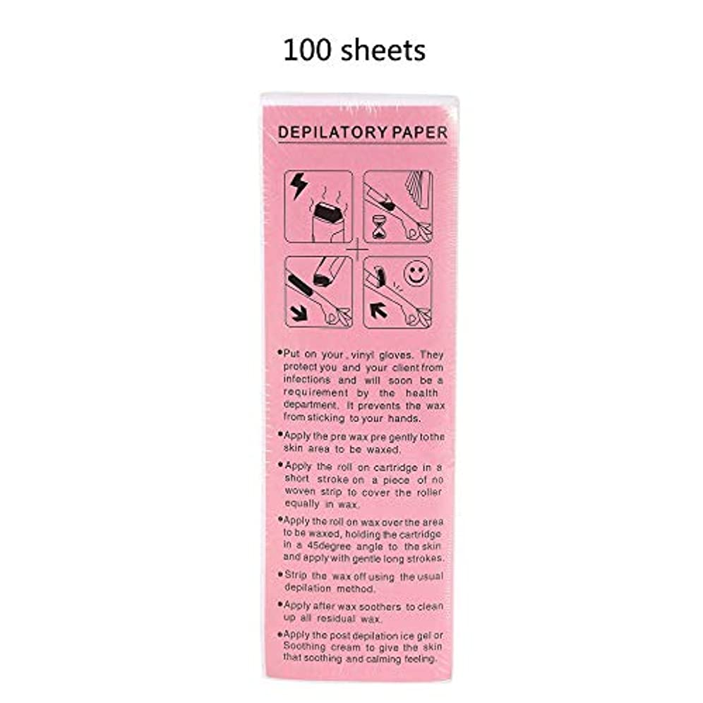 代表する航海の入札100ピース脱毛ワックスストリップワックスペーパー脱毛美容ツール-Innovationo