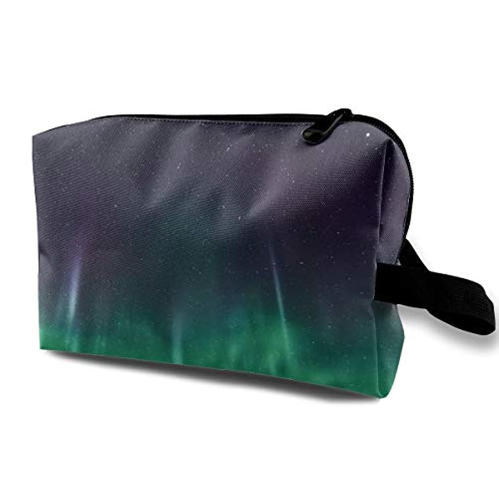 カート油足Aurora Star 収納ポーチ 化粧ポーチ 大容量 軽量 耐久性 ハンドル付持ち運び便利。入れ 自宅・出張・旅行・アウトドア撮影などに対応。メンズ レディース トラベルグッズ