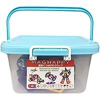 マグネットブロック 磁気おもちゃ 知育玩具 168ピース マグフォーマー 磁石付き積み木 創造力と想像力を育てる知育 玩具 モデルDIY マグハッピー MAGHAPPY