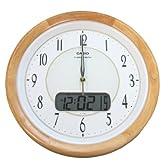 CASIO(カシオ) 電波アナログ掛け時計 デジタルカレンダー表示 ブラウン IC-1120NJ-7JF