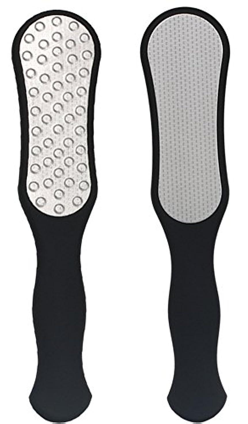 IvyOnly ビューティーフット足 かかと削り器 フットファイル 足裏ケアセット フット専用品 角質削り タコ 魚の目 除去 ステンレス製 錆びにくい (ブラック)