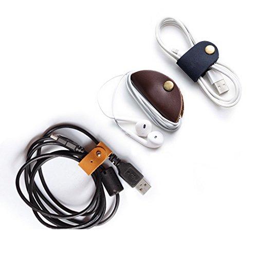 GUIQI(グイキ)コード巻き取りホルダー 携帯コード収納 パソコン・周辺機器 USBコード 3類 (ストリップ PU3つ)
