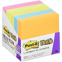 ポストイット 強粘着 付箋 ノート ネオンカラー 50×50mm 90枚×5パッド 650-5SSAN