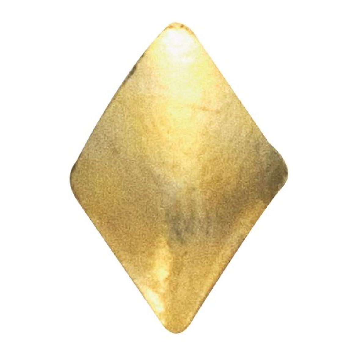 勉強する協定時計回りリトルプリティー ネイルアートパーツ スタッズダイヤ 2×3mm ゴールド 50個