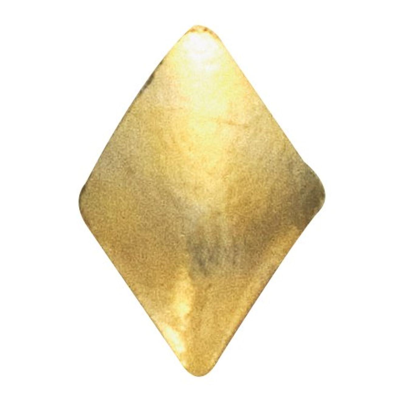 拮抗する領収書雑品リトルプリティー ネイルアートパーツ スタッズダイヤ 2×3mm ゴールド 50個