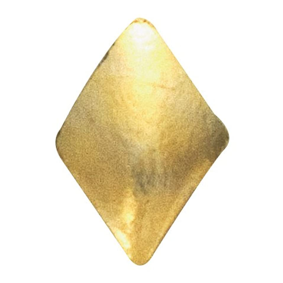 誰真鍮侵略リトルプリティー ネイルアートパーツ スタッズダイヤ 2×3mm ゴールド 50個