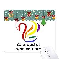 あなたが誰かを誇りに思う ゲーム用スライドゴムのマウスパッドクリスマス