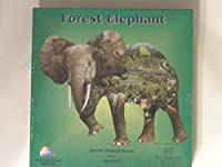 American Puzzles, Forest Elephant Puzzle, 1000 Pieces Puzzle (SHAPE) [並行輸入品]