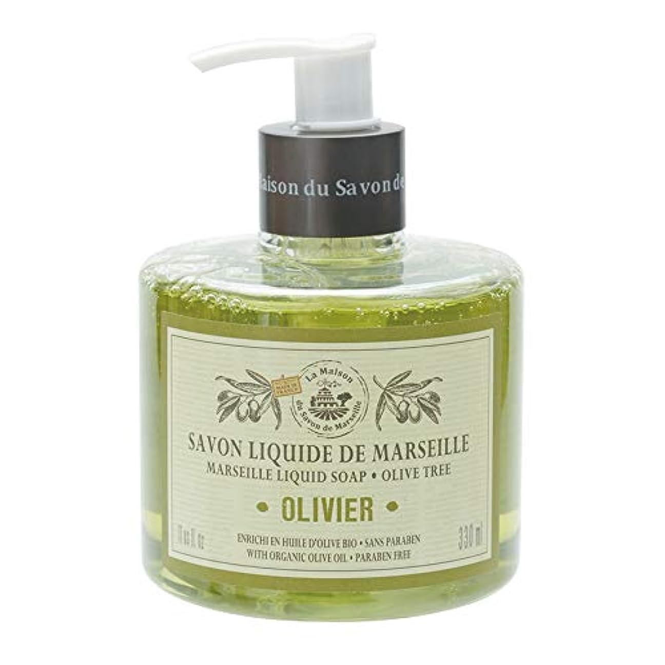 ベックス同志後悔ノルコーポレーション マルセイユ石鹸 リキッドソープ 330ml オリーブの香り MLL-1-4