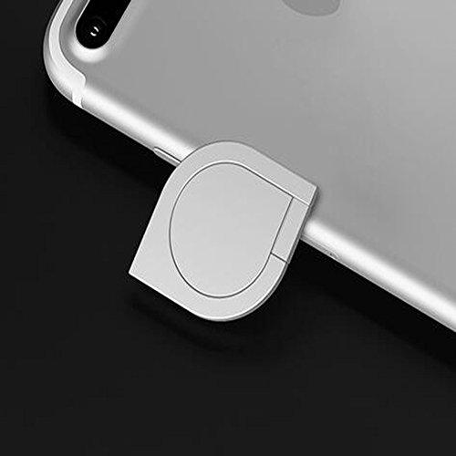 DBMART スマホリング ホルダー バンカーリング 360度回転 落下防止 ホールドリング 車載ホルダー対応 iPhone/iPad/iPod/Galaxy/Xperia/android多機種対応 スマートフォン・タブレット金属を指1本で保持・落下防止・スタンド機能 アルミニウム合金 スマホリング スマホ対応 シズク ハンドスピナー 指先ジャイロ ジャイロ 耐荷重約3-5kg 水洗できる (シルバー)
