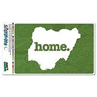 ナイジェリアホームカントリー MAG-NEATO'S(TM) ビニールマグネット - テクスチャ緑