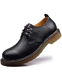 HIMAWARI マーチンシューズ ワークブーツ メンズ ローカット 革靴 レースアップ エンジニアブーツ カジュアル 24~28