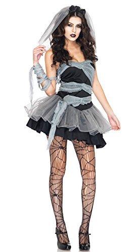 ハロウィン仮装 花嫁 ゾンビ ホラー 魔女 コスプレ衣装 コスチューム パーティー グッズ (花嫁 ゾンビ)