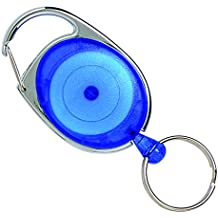 REXEL 9806101 ID SNAP Lock Retractable KEYHOLDER,Blue (HANGSELL)
