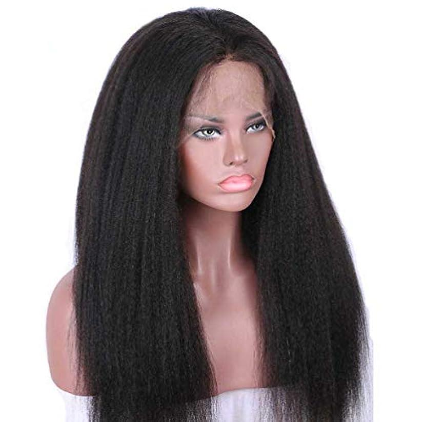 士気農場広い女性130%密度かつらブラジルストレートヘア360レースフロント人毛ウィッグナチュラルカラーウィッグ