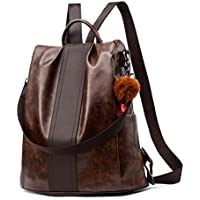 Backpack Purse for Women PU Leather Anti-theft Backpack Casual Satchel School Shoulder Bag for Girls