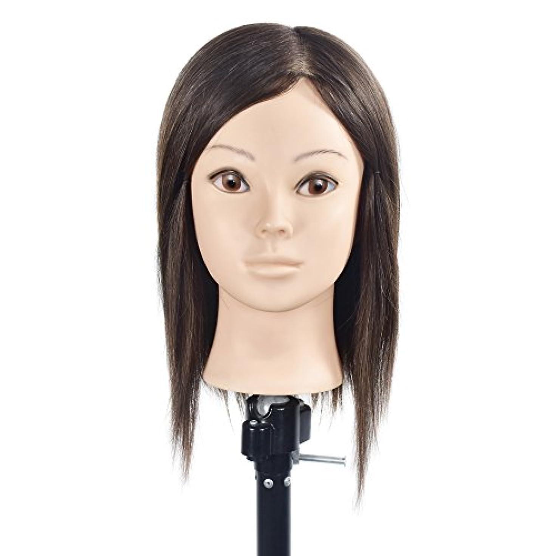 ロードブロッキング代わりのオフェンストレーニングヘッド美容師100%リアルヒューマンヘアスタイリングマニアックマネキン人形(フリーテーブルクランプ付)