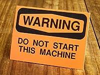 サイン&ラベルステッカー SIGNS & LABELS series 「警告、この機械を作動させるな」_SC-MD023-SXW