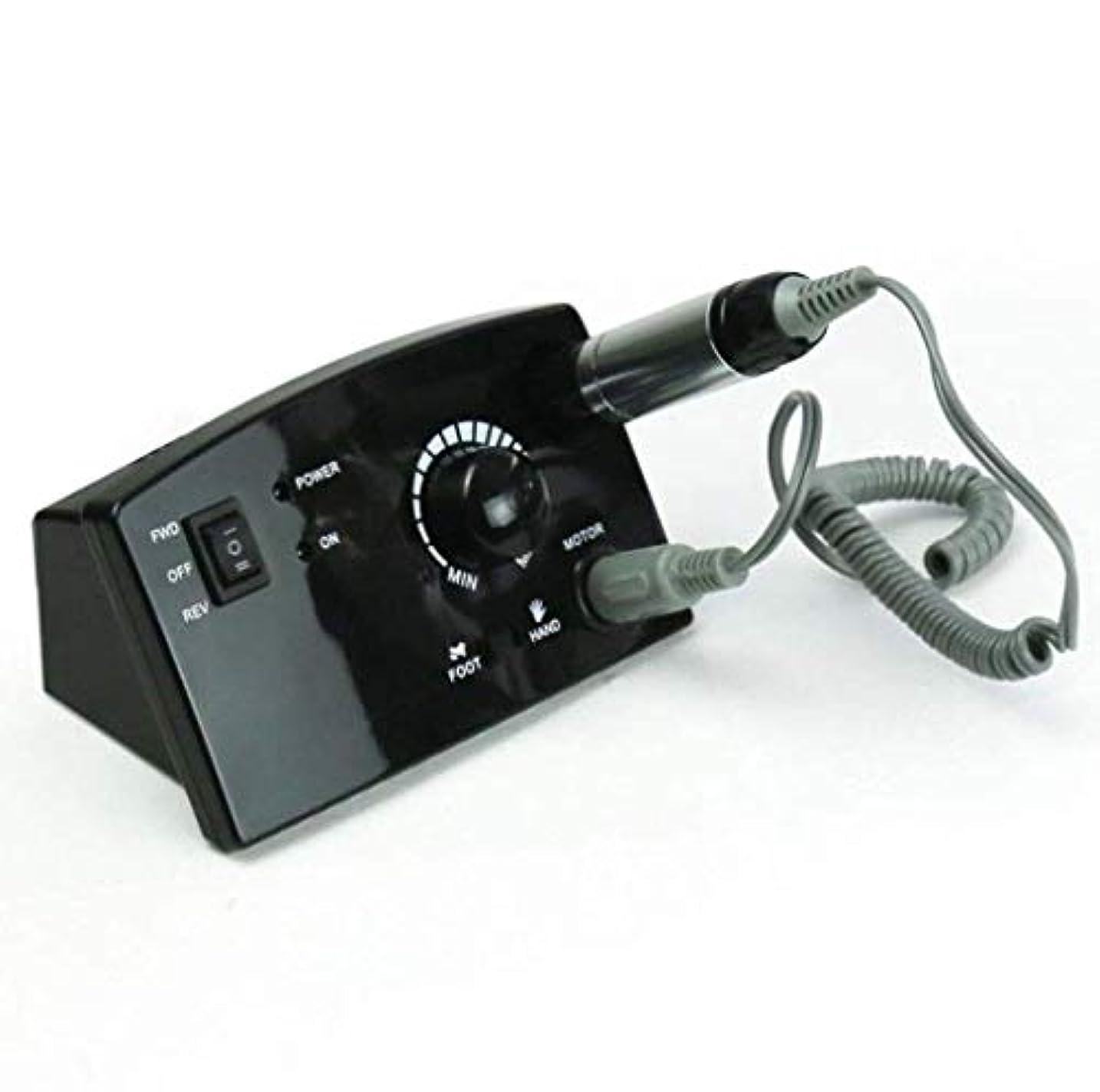 シンボル圧縮ハンディネイルマシン 卓上式 電動 プロ セルフ 正逆回転 ジェルネイルオフ ネイルケア道具 ネイルドリル ネイルマシーン 爪手入れツール 3万回転/分,Black