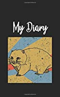My Diary: Wombat Retro and Vintage Style 100 Pages Lined