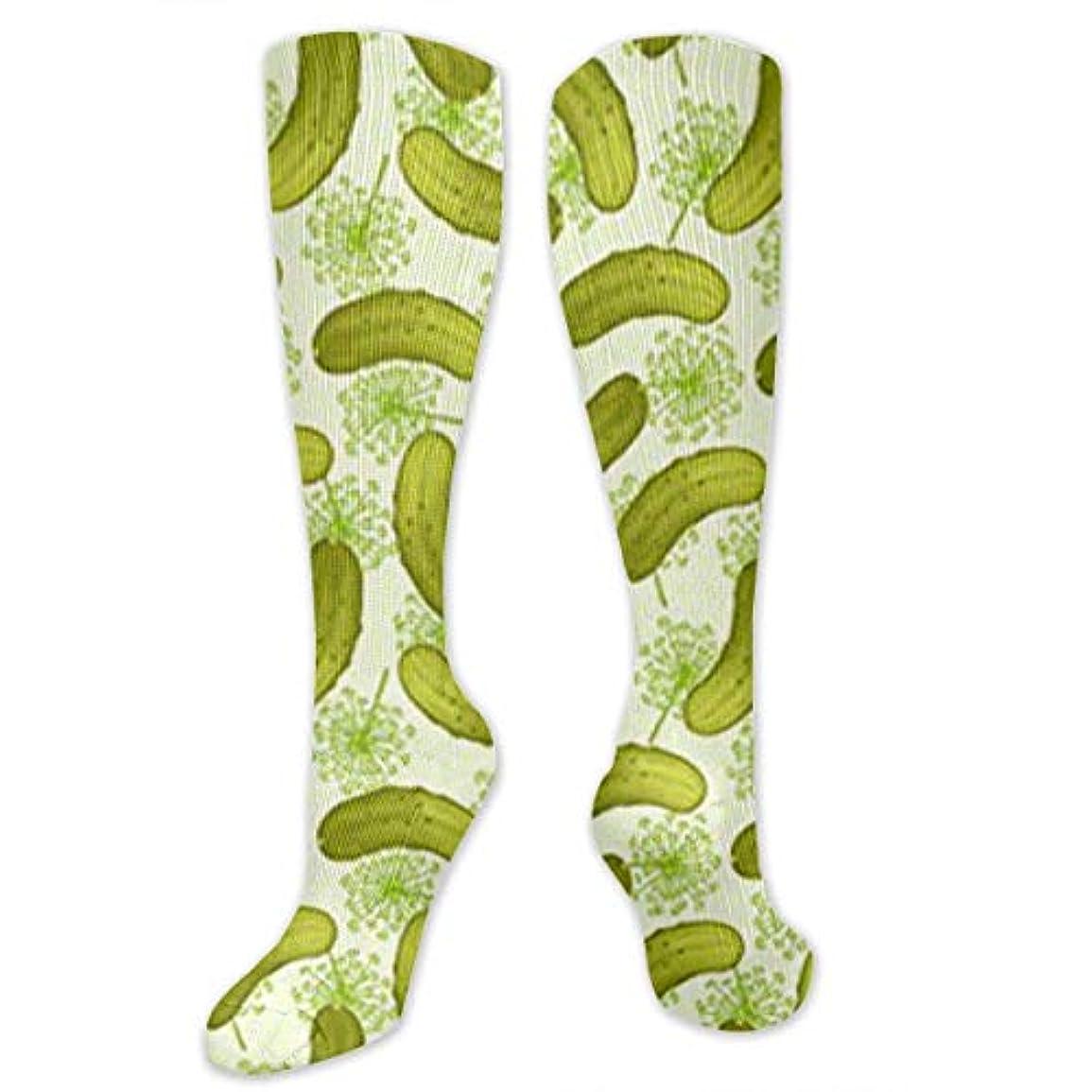 船形アデレードバーター靴下,ストッキング,野生のジョーカー,実際,秋の本質,冬必須,サマーウェア&RBXAA Dill Pickles Socks Women's Winter Cotton Long Tube Socks Knee High...