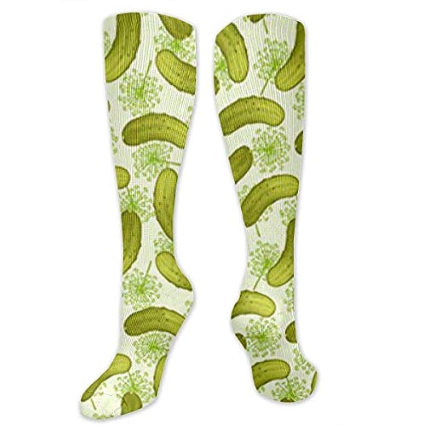 シロナガスクジラ野ウサギ無靴下,ストッキング,野生のジョーカー,実際,秋の本質,冬必須,サマーウェア&RBXAA Dill Pickles Socks Women's Winter Cotton Long Tube Socks Knee High...