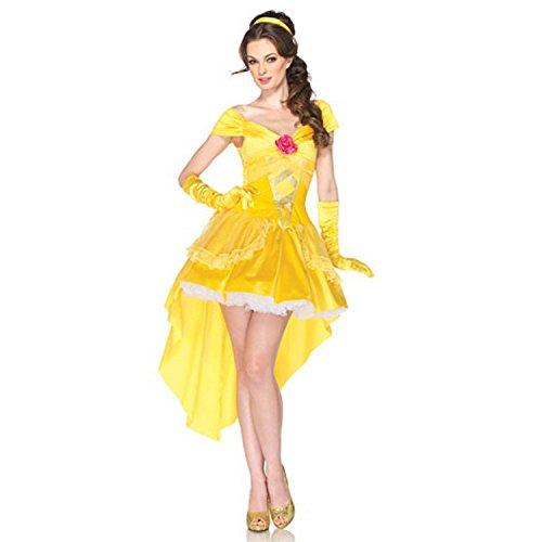 プリンセス 美女と野獣 ベル ワンピース ドレス 手袋付き コスチューム レディース Mサイズ