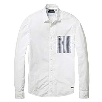 スコッチアンドソーダ SCOTCH&SODA シャツ Striped Poplin Shirt [0407-20398] ホワイト ストライプ コットン ベーシック 秋 M ホワイト(06)