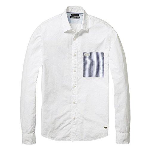 スコッチアンドソーダ SCOTCH&SODA シャツ Striped Poplin Shirt [0407-20398] ホワイト ストライプ コットン ベーシック 秋