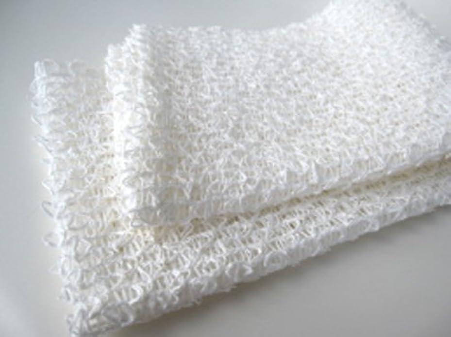 手段乳白色有効和紙浴用ボディタオル