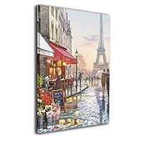 パリの現代カップル 絵画 油絵 抽象画 インテリア キャンバス 壁掛け 手描き油彩モダンアートパネル ポスター 壁掛け 30*40cm
