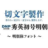 nc-smile 1文字からの切文字 オーダーメイド 製作 秀英初号 明朝体 カッティング ステッカー シール (文字高さ 20mm)