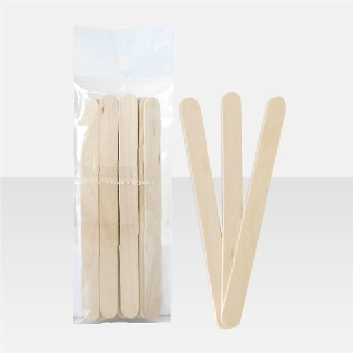 花瓶マウスピースピットブラジリアンワックス 脱毛ワックス用  ワックススパチュラ 木ベラ /10本セット Sサイズ