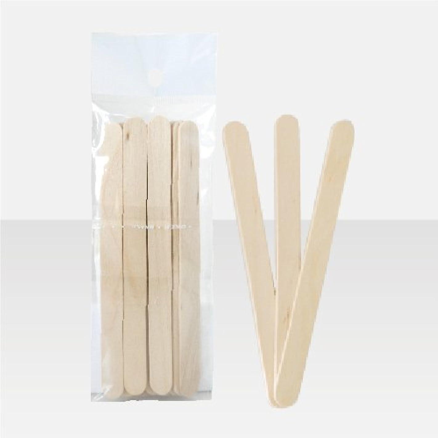 ブラジリアンワックス 脱毛ワックス用  ワックススパチュラ 木ベラ /10本セット Sサイズ