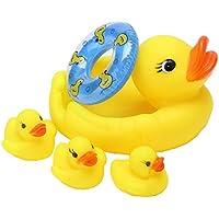 お風呂用 鴨セット お風呂で遊べる 笛付きミニアヒル