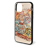 人気 Iphone 11 ケース Hip Hop 落書き For Iphone 11 Pro 対応 全面 TPU バンパー シンプル 薄型 耐衝撃 全面保護 カラーボタン Qi充電対応 (ブラック)